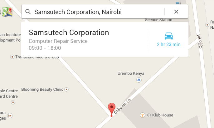 Authorized Samsung Kenya Service Points in Nairobi City