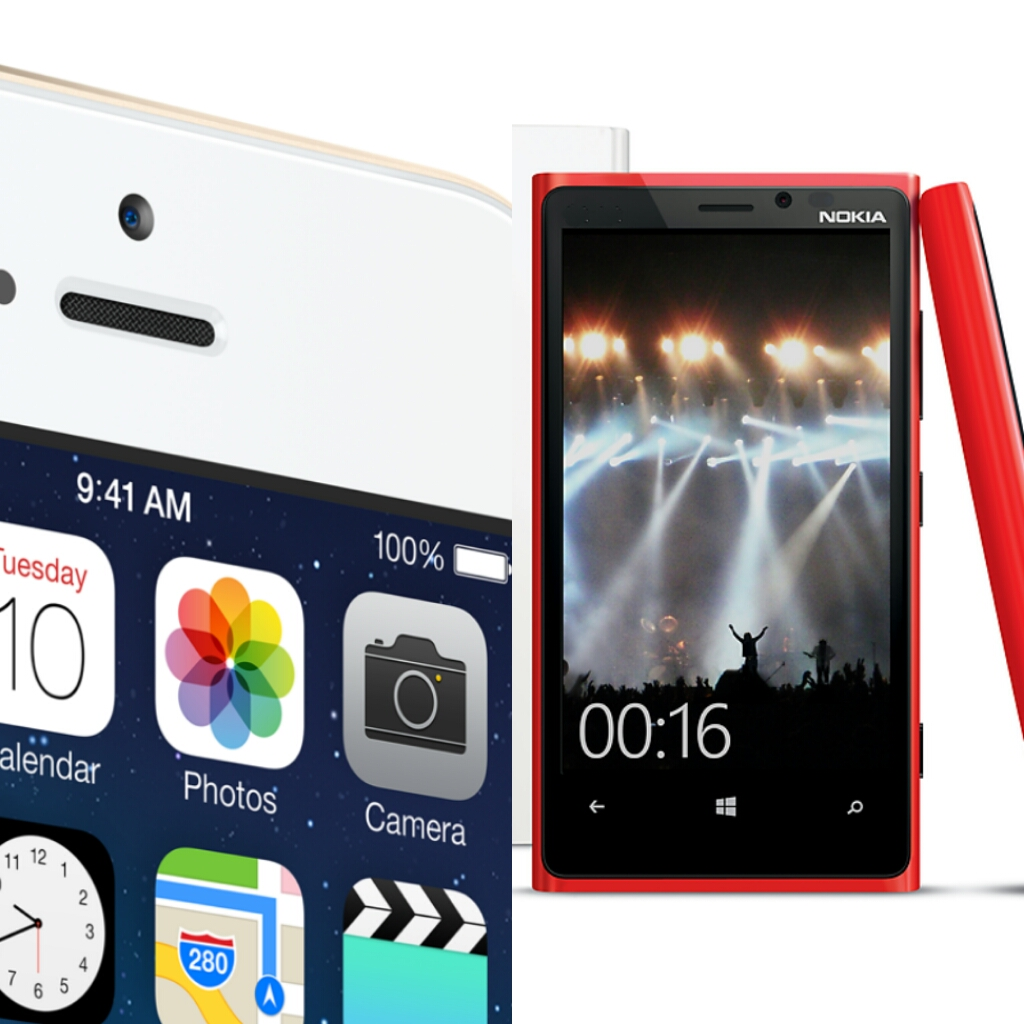Battle of the Brands iPhone 5s vs. Nokia Lumia 920