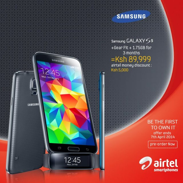 Safaricom and Airtel Kenya Accepting Pre-Order for the Samsung Galaxy S5
