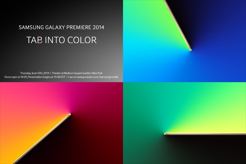 Samsung Expected to launch a colorful range of Tablets at the Galaxy Premiere 2014 event
