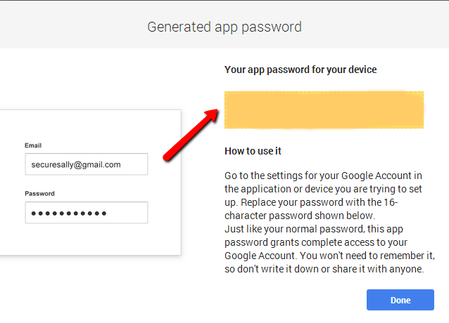 [Image] Application Specific Password in Two Steps