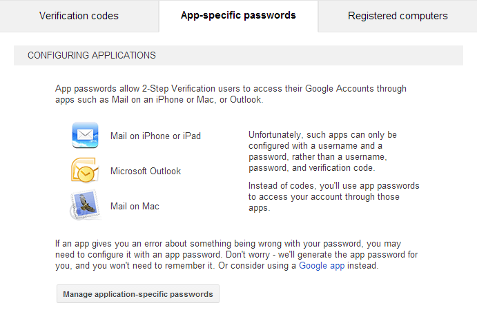 [Image] [Google Two Factor Authentication 101] Create an Application Specific Password in Two Steps