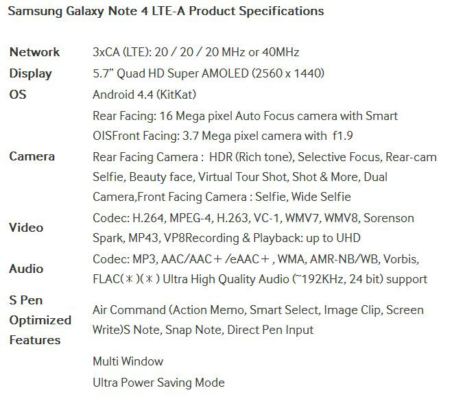 [image] Samsung Galaxy Note 4 LTE-A
