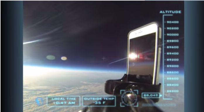 [image] Ultimate Drop Test iPhone 6 Dropped 101,000 Feet from Space