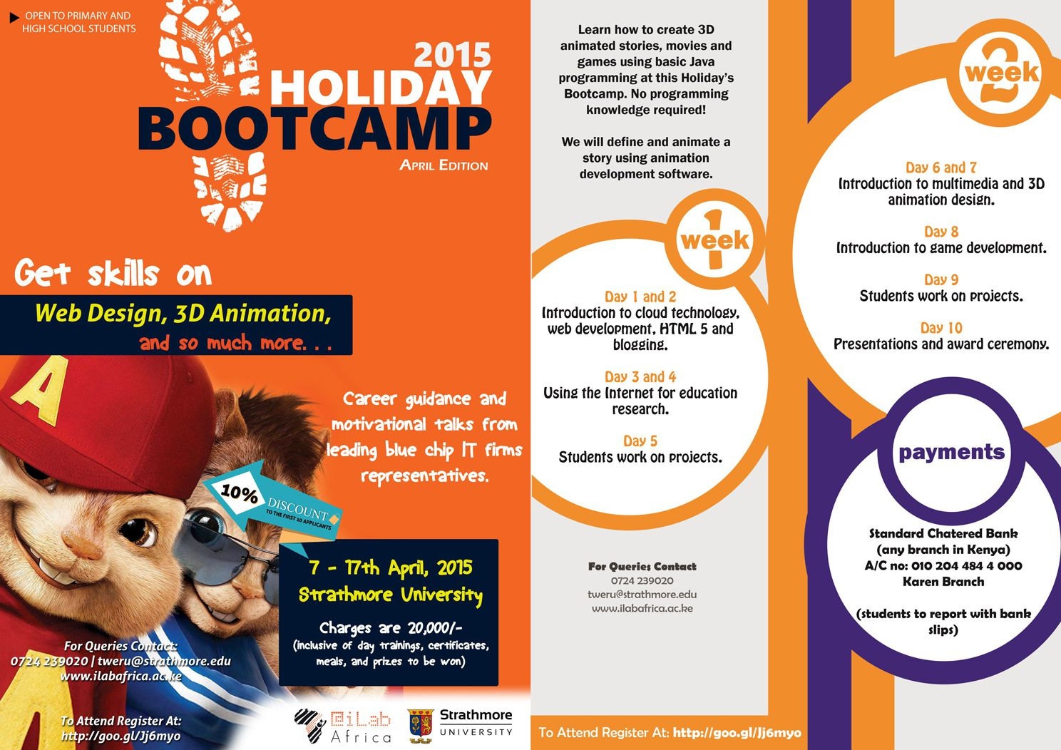 [image] Details about the @iLabAfrica upcoming 9-day Holiday Boot Camp