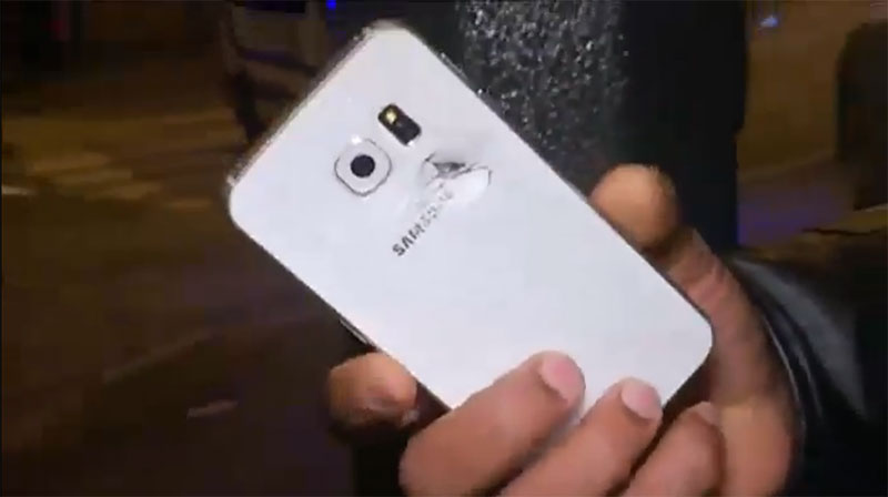 A Samsung Smartphone saved a man's life during the Paris Attack.