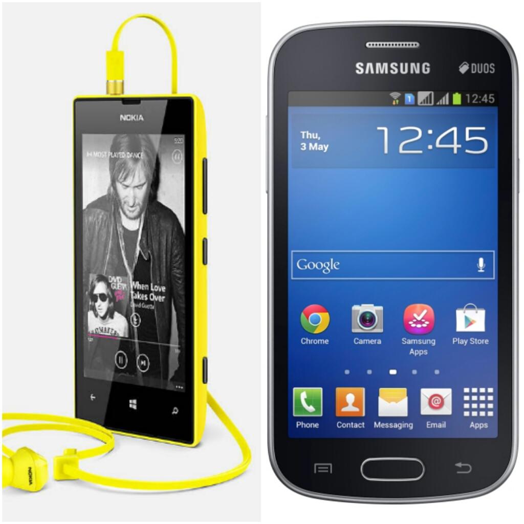 Nokia Lumia 520 Vs Samsung Galaxy Trend