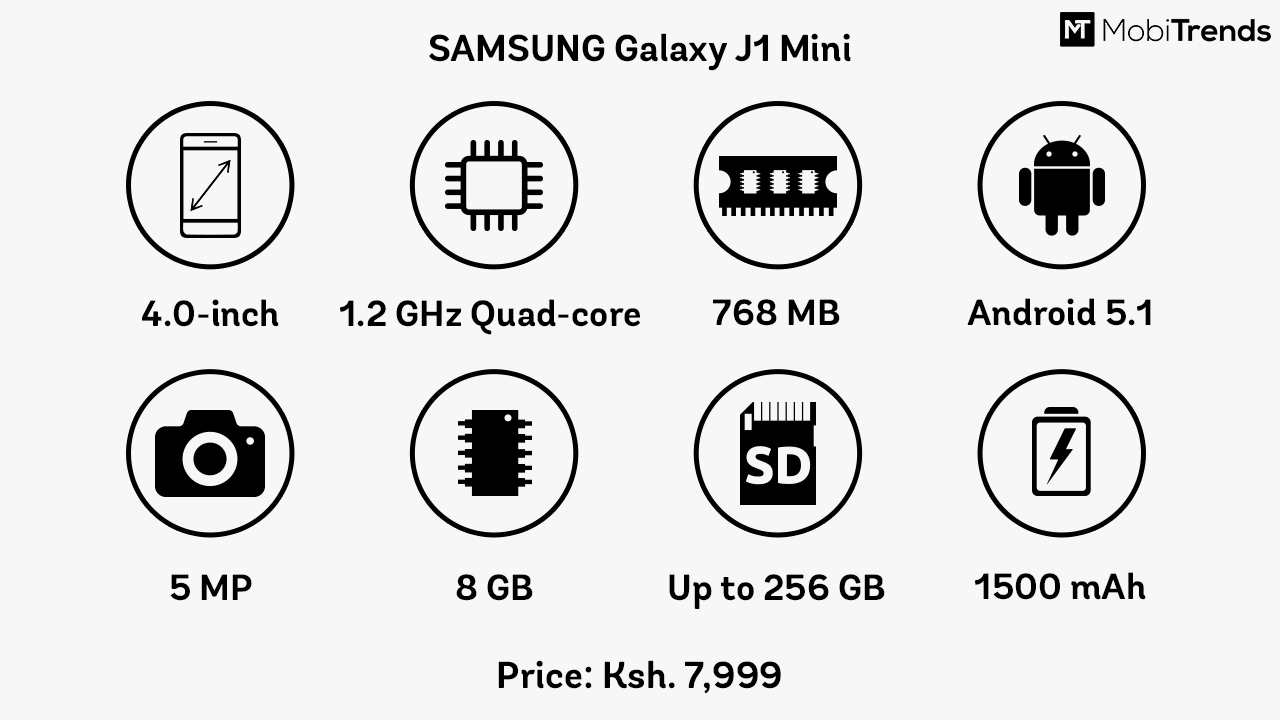 Samsung Galaxy J1 Mini Specifications And Price In Kenya J120 2016 8gb White